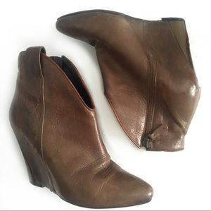 Latitude Femme Western Leather Wedges Booties 38